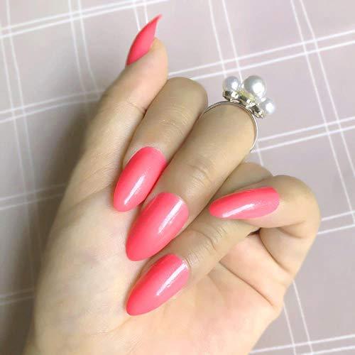 LLine Sapphire Full Strass Décoration Medium Fake Nails Set Crystal Press on Nails Glitter Marvel False Nail, S25-15