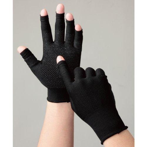 ミドリ安全 指先スライド手袋 スライドタッチ ブラック M STCHBKM-7186 【4238567】