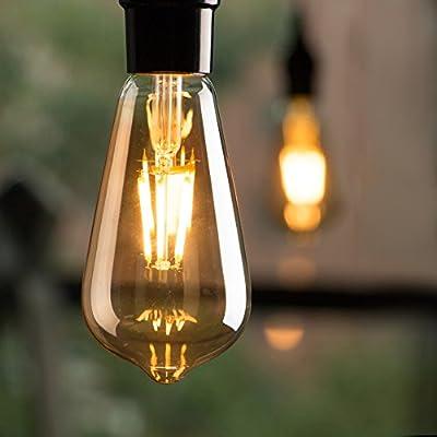 Led Light Bulbs 6 Packs, 60 Watt Equivalent, Dimmable Edison Light Bulb 6W E26 Base Vintage Led Bulbs, Amber Bulbs Warm White Light
