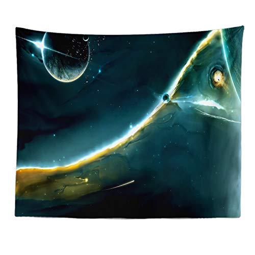 tianhao Tapices para Colgar en la Pared, un Universo Dividido por la luz Alfombra de Tela con Estampado de Colores