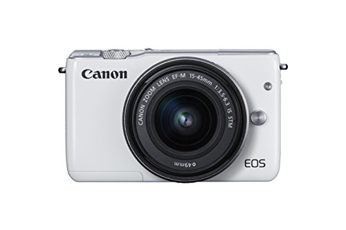 Canon EOS M10 Mirrorless Camera Kit with EF-M 15-45mm Image Stabilization STM Lens Kit (White)