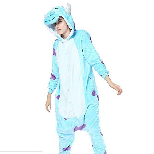 Adulto Monstet Sullivan Onesie Kigurumi Pijamas Sully Franela Trajes de Fiesta Familiar Monos Homewear XL