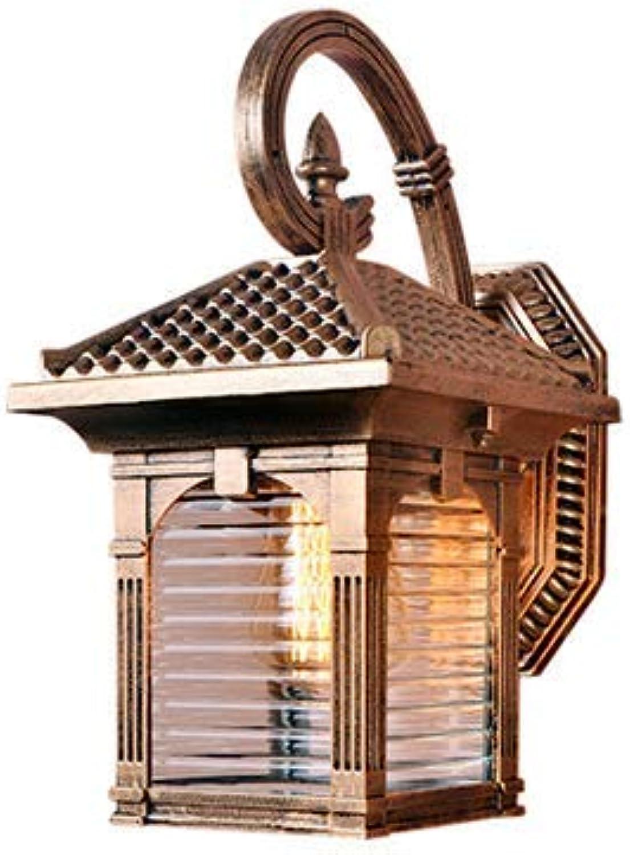 Europisches Retro- Wasserdichtes Wandlampenkorridorhofwandlampengartenwohnzimmerhotelrestaurant-Cafékleidungsgeschft Im Freien