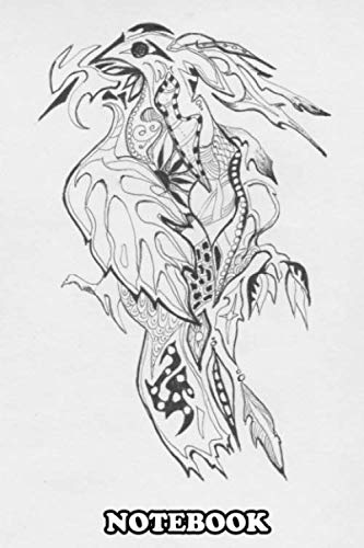 Notebook: Lineart Drawing Of The Mystery Bird , Journal for Writing, College Ruled Size 6' x 9', 110 Pages