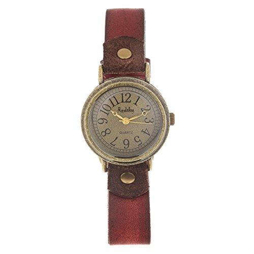 Reloj de Mujer de Moda G-Style Correa de Cuero Relojes Pulsera (RP02)