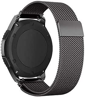 Black,Stainless Steel Bracelet Strap For Samsung Gear S3 Milanese Loop Watchband