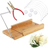 VolksRose Bamboo Soap Cutter Mold, Beveler Planer Wire Slicer for Handmade Candles Trimming Cheese DIY Cutting Making Tool #04
