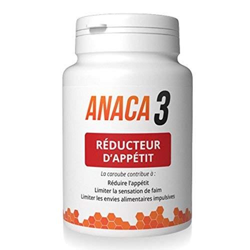 Anaca3 –Réducteur d'Appétit – Sensation de satiété – Complément Alimentaire – Programme 30 jours –90 gélules