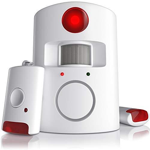 CSL   Kit de sistema de alarma antirrobo inalámbrico por infrarrojos   sistema de seguridad para el hogar   Alarma de sensor PIR   Alarma de casa   100dB   Incluye 2 mandos a distancia