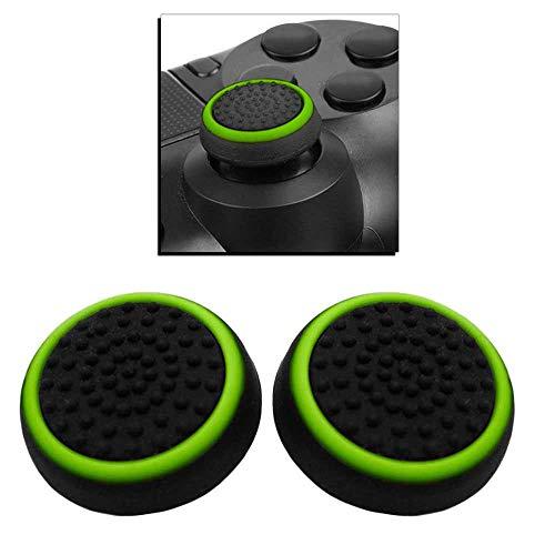 Ociodual 2X Flexiblem Daumen-Thumb Grip Silikon Kappen Abdeckung Grün Kompatibel mit PS4/FAT/Slim/Pro Xbox One Controller