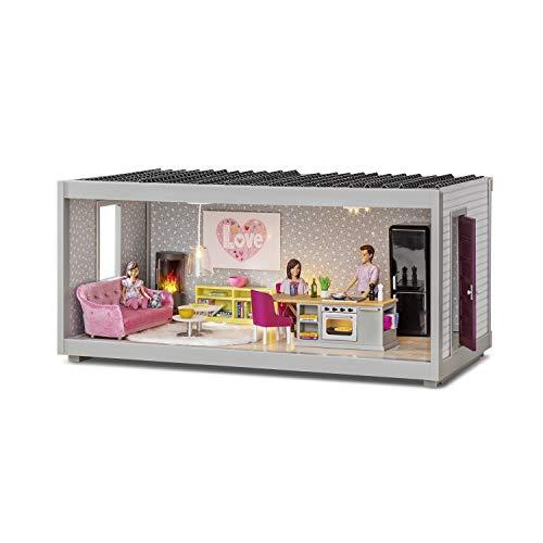 Lundby 60-102400 - Modul Room Ergänzung Puppenhaus Life und Creative- B: 44 cm - Bausatz - Zimmer - Stockwerk - Wohnung - Puppenhauszubehör - Zubehör - ab 4 Jahre - 11 cm Puppen - 1:18