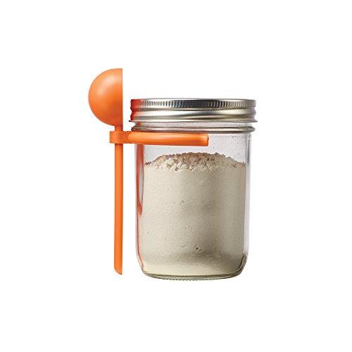Jarware 82634 Coffee Spoon Clip for Wide Mouth Mason Jars, Orange