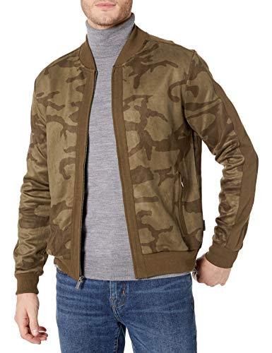 Sean John Men's Camo Blocked Track Jacket, Beechwood, M