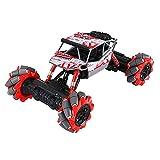 GDFDC 2.4G Drifting Stunt RC Truck, Buggy RC De Escalada Inalámbrico Todo Terreno,Vehículo RC De Alta Velocidad con Rotación De 360 °,Coche RC Bigfoot Monster,Regalos De Juguete para Niños Y Niñas