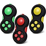 3 Pieces Fidget Pad Fidget Controller Pad Fidget Game Pad Fidget Focus Toy for Stress Relief Suitable for Most Age