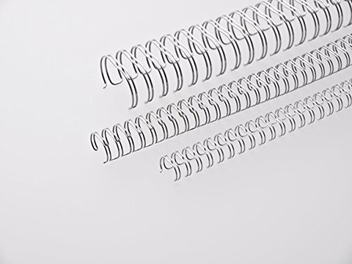 Renz One Pitch Drahtkamm-Bindeelemente in 2:1 Teilung, 23 Schlaufen, Durchmesser 8.0 mm, 5/16 Zoll, silber/glänzend