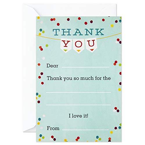 Hallmark Kids Fill in the Blank Thank You Cards (20 Cards with Envelopes) (5STZ5099)