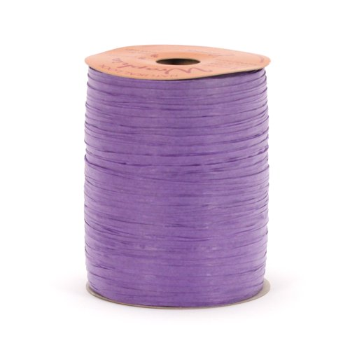 Berwick Offray Matte Purple Raffia Ribbon, 1/4'' Wide, 100 Yards