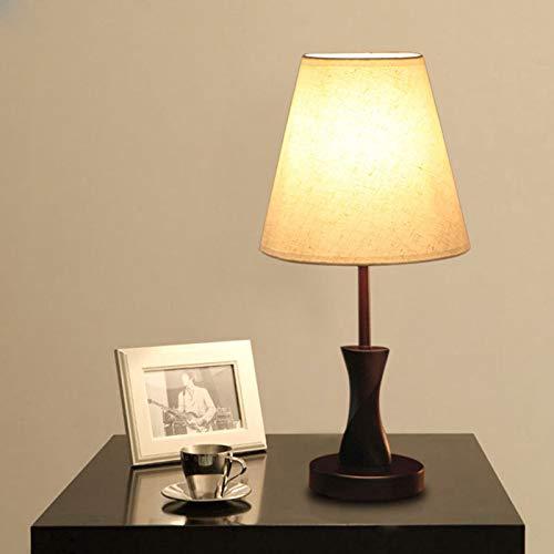 Einfache und Moderne Tischleuchte aus Massivholzgewebe, dekorative Tischlampe am Schlafzimmer (Keine Lichtquelle)