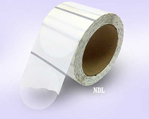 """Clear Retail Package Seals, Round Circle Wafer Stickers, 500 Per Roll (3"""")"""