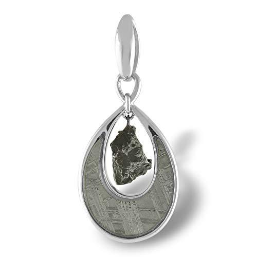 Starborn Muonionalusta Meteorit und Campo del Cielo Tropfen Sterling Silber Anhänger