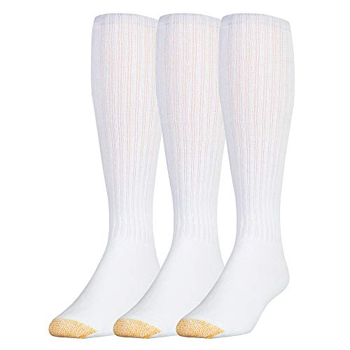 Gold Toe Men's Cotton Over-the-Calf Athletic Socks- 2PK(6 socks(shoe size: 6-12.5))