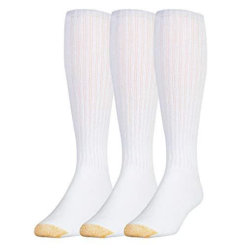 Gold Toe Herren-Socken aus Baumwolle, für die Wade, 3er-Pack, Weiß, Größe 39-47