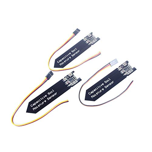 ANGEEK 3 Pcs Capacitive Soil Moisture Sensor Module for Arduino and Raspberry Pi