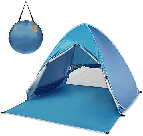 Pop Up Camping Beach Tienda Pop Up Beach Tent Automático Instantáneo Ligero UV Protección de sol Sun Shelter Tienda Cabana Tienda Camping al aire libre Grande for acampar, Mochilero Amplio al aire lib