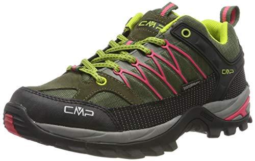 CMP Rigel, Zapatos de Low Rise Senderismo para Mujer, Verde (Kaky-Corallo 65bn), 40 EU