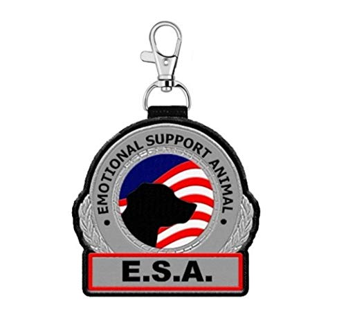 WORKINGSERVICEDOG.COM Emotional Support Animal ESA Clip on Identification Hanging Patch Tag – Clips onto a Service Dog Vest, Harness, Collar, Leash or Carrier