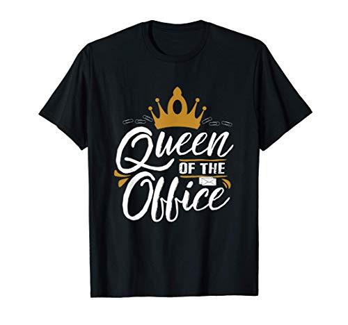 Büro Job Königin Sekretärin Bürokauffrau Angestellte T-Shirt