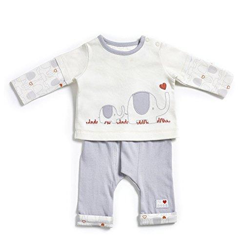 KATIES PLAYPEN / BABY BEST BUYS Natures Purest My 1st Friend Organic Cotton Top & Trouser Set - 3-6 Months Cream