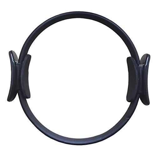 MyYogaWheels Deluxe Pilates Anello Fitness Circle Dual Grip Magic Circle Yoga Hoop per tonificare l'esercizio e rafforzare (nero)