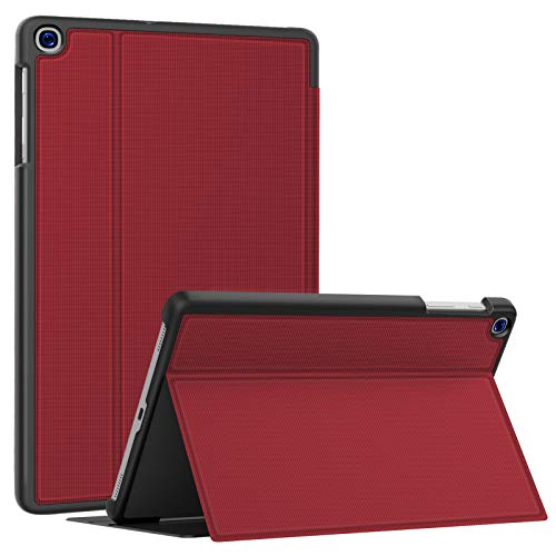 Soke Galaxy Tab A 10.1 Case 2019, Premium Shock Proof Stand Folio Case,Multi- Viewing Angles, Soft TPU Back Cover for Samsung Galaxy Tab A 10.1 inch Tablet [SM-T510/T515/T517],Red