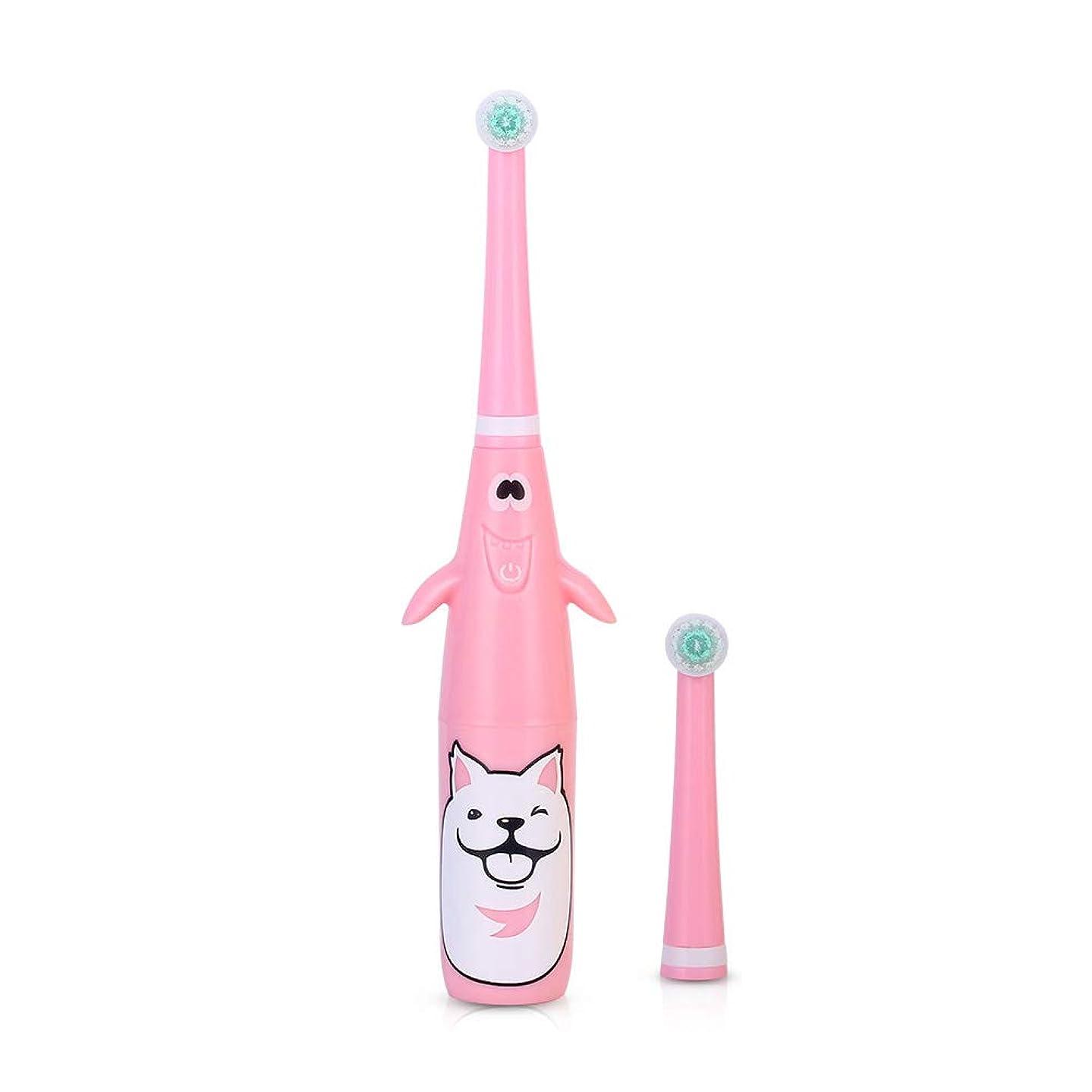周囲シンポジウム屋内SOOKi 子供の電動歯ブラシ、子供のための2つの取り替えの頭部が付いている電池式の電子音波の歯ブラシ,Pink