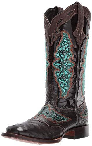 Lucchese Bootmaker Botas Amberlyn Western para mujer, marrón (Café), 38 EU