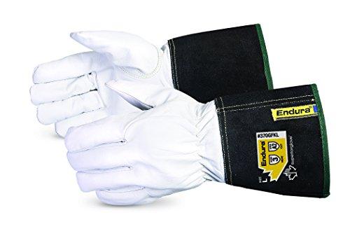 Superior 370GFKLM Precision Arc Goatskin Leather TIG Welding Glove with Kevlar Lining, Work, Medium (Pack of 1 Pair)