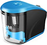 Akche Electric Pencil Sharpener, Mechanical Heavy-duty Helical Blade to Fast Sharpen, Auto Stop for No.2/Colored Pencils(6-8mm), USB/Battery Operated in School Classroom/Office/Home(USB Cable Include)