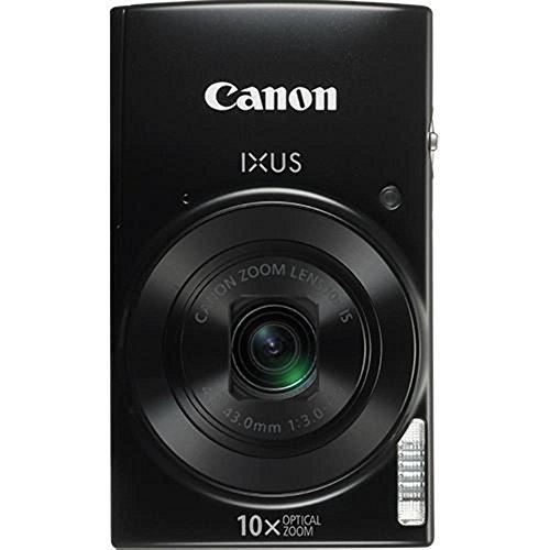 Canon IXUS 190 Digitalkamera (20 MP, 10x optischer Zoom, 6,8cm (2,7 Zoll) LCD Display, WLAN, NFC, HD Movies) schwarz