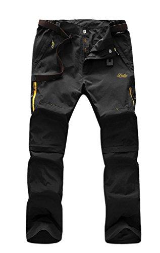 Aufgevals Men's Windproof Quick Drying Outdoor Pants(Black,M)