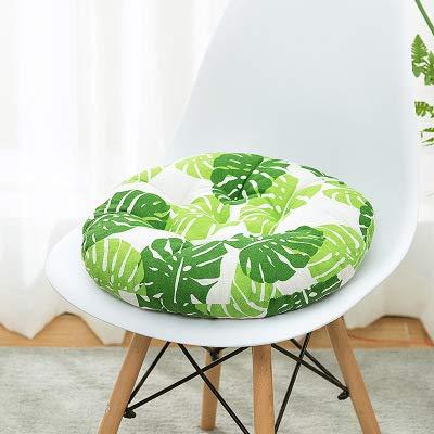 Nicole Knupfer Juego de 2 cojines redondos para silla, de algodón y lino, para interior y exterior (50 cm de diámetro) ⭐