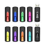 Chiavette USB 16GB da 10 Pezzi, Vansuny Pendrive USB 2.0 16 GB con Design Retrattile, USB Unità...
