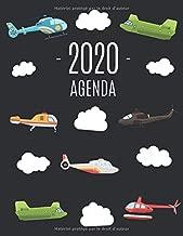 Hélicoptère Agenda 2020: Agenda Annuel   Pour l'Organisation à la Maison ou au Bureau (French Edition)
