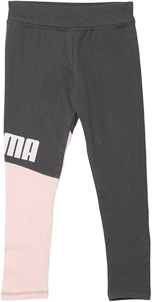 PUMA Kids Girls Colorblock Spandex Fashion Leggings - - Pink