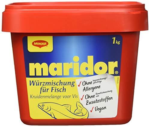 Maggi Maridor Würzmischung o.k.A. für Fisch zum Kochen oder Braten und Grillen, Marinaden & Saucen, auch für Geflügel, 6er Pack (6 x 1kg Gastro Box)