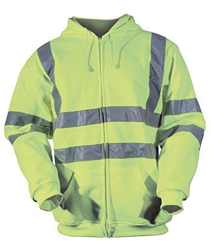 Sweat à capuche pour homme haute visibilité Blackrock, Jaune EN471 Classe 3