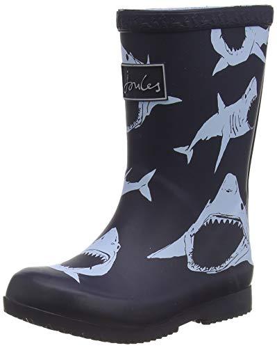 Tom Joule Jungen Welly Print Gummistiefel, Blau (Navy Bullhead Shark Navblshrks), 25 EU