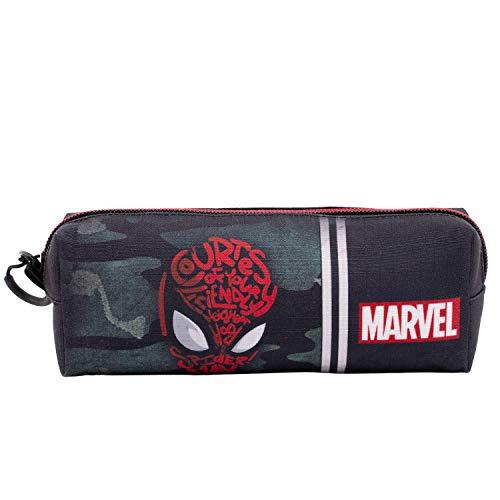 Spider-Man Spidey-Astuccio Portatutto Quadrato HS, Nero