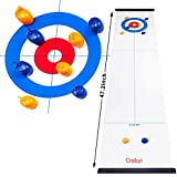 Crobyi Tabletop Curling Game for Kids, Adults & Family. Fun Indoor Sports Game for Everyone. Come with 8...